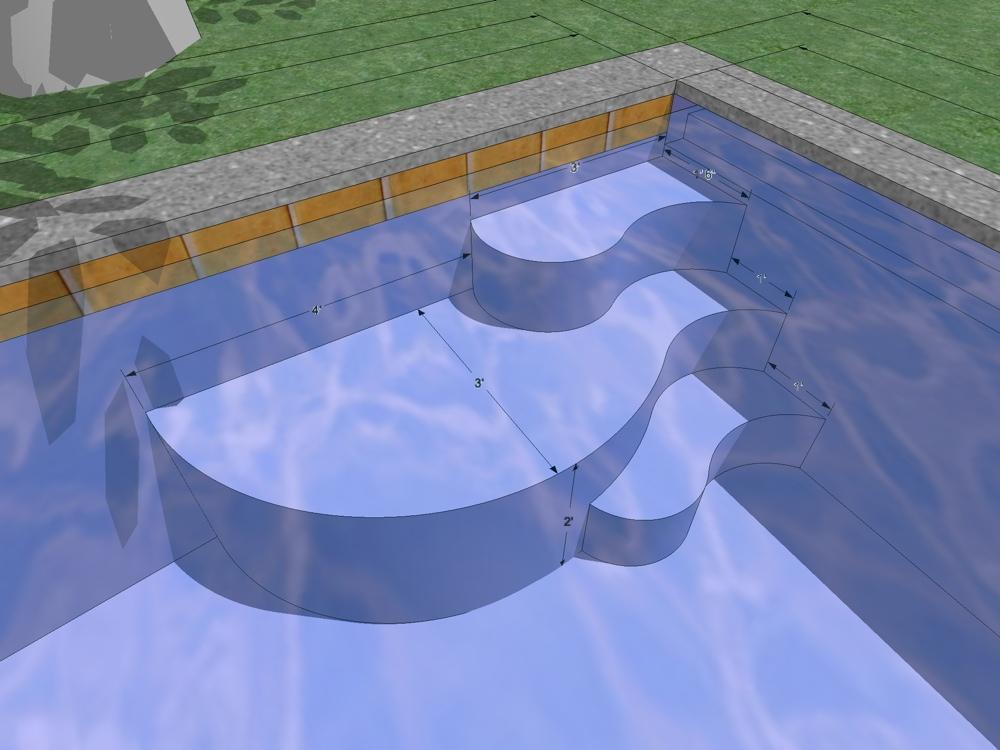 Stuart 39 s swimming pool by swan pools san jose for Pool design sketchup